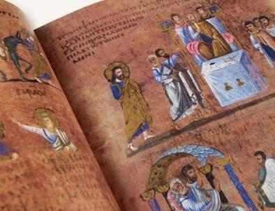 codex purpureo di Rossano vicino Acri