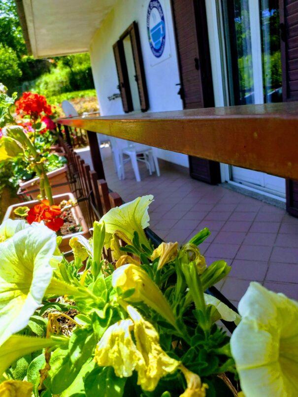 balcone in fiore del B&B