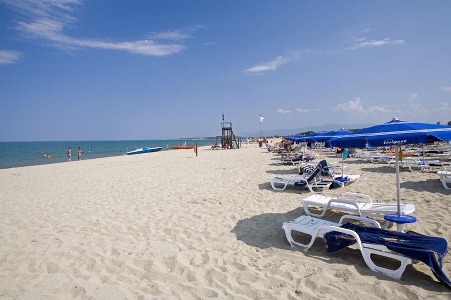 Il mare Jonio e la spiaggia di Sibari